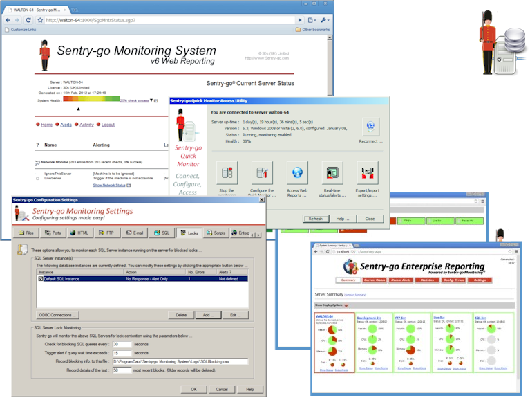 Click to view Sentry-go Quick SQL Server Monitor screenshots